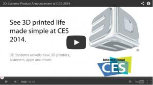 CES 2014 3dSystems