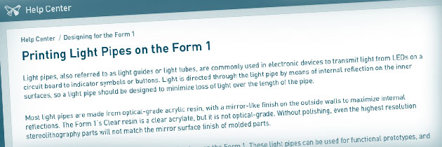 Lichtleiter selber Drucken