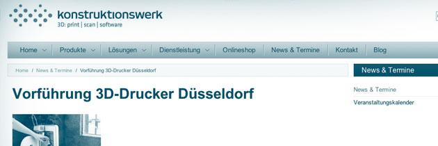 Website Konstruktionswerk Düsseldorf